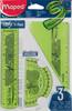 Набор линеек Maped 895024 пластик дл.15см компл.:лин 15см/угольн 15см/транс 10см вид 1