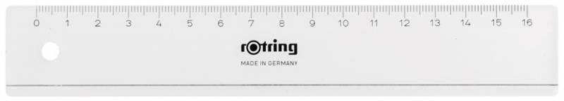 Линейка Rotring Centro Flat Ruler S0220870 пластик дл.16см прозрачный
