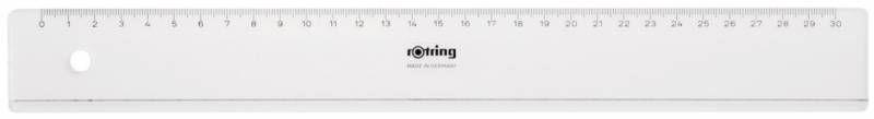Линейка Rotring Centro Flat Ruler S0220950 пластик дл.30см прозрачный