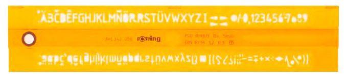 Трафарет буквенный Rotring S0228530 Z в соответствии с ISO 3098/I высота шрифта 50мм