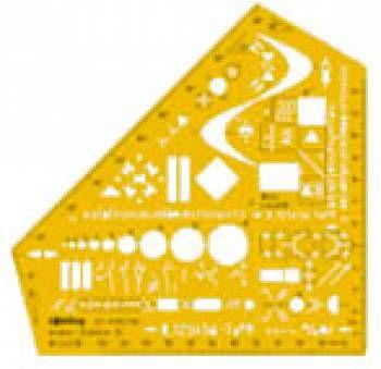Шаблон электроинжинерный Rotring Studio S0238591 пластик 162x106x1мм желтый 1:1