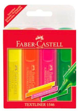 Набор текстовыделителей Faber-Castell 1546 154604 4цв. футляр