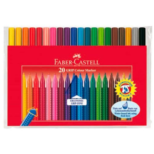 Фломастеры Faber-Castell Grip 155320 20цв. футляр