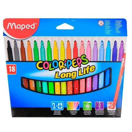 Фломастеры Maped ColorPeps 845021 18цв. карт.коробка