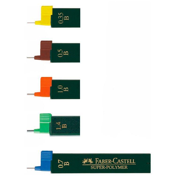 Грифель Faber-Castell Superpolymer 120511 0.5мм H (12гриф) туба