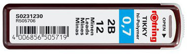 Грифель Rotring Tikky S0231230 0.7мм 2B (12гриф)