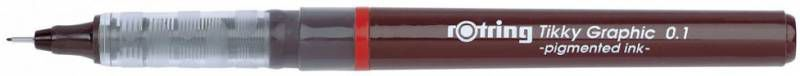 Ручка для черчения Rotring Tikky Graphic 1904750 0.1мм черн.:черные корпус бордовый