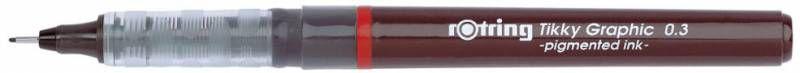 Ручка капиллярная Rotring Tikky Graphic (1904753) 0.3мм черные чернила