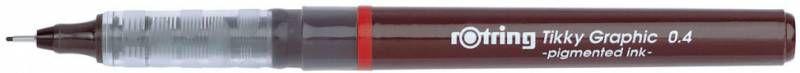 Ручка капиллярная Rotring Tikky Graphic (1904754) 0.4мм черные чернила