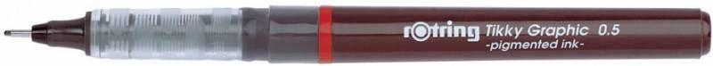 Ручка капиллярная Rotring Tikky Graphic (1904756) 0.5мм черные чернила