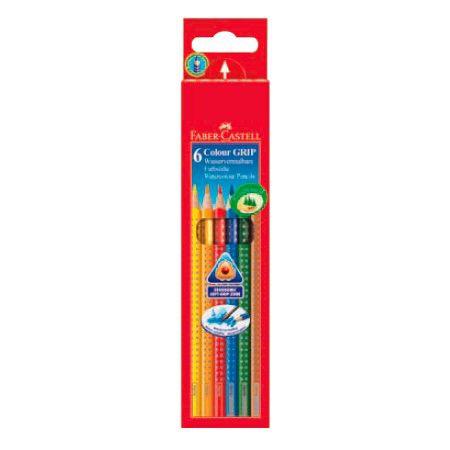 Карандаши цветные Faber-Castell Grip 112406 трехгран. 6цв. карт.кор.