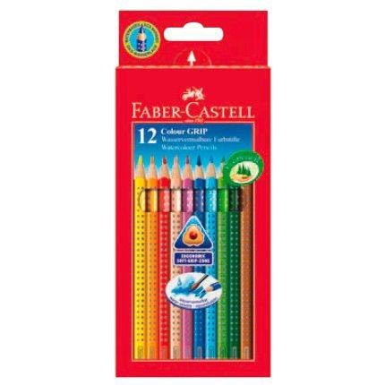 Карандаши цветные Faber-Castell Grip 112412 трехгран. 12цв. карт.кор.