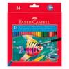 Карандаши цветные акварельные Faber-Castell Colour Pencils 114425 24цв. кисточка карт.кор. вид 1