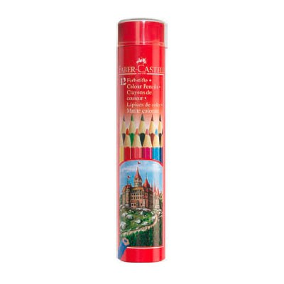 Карандаши цветные Faber-Castell Colour Pencils 115826 шестигран. 12цв. мет.туб.