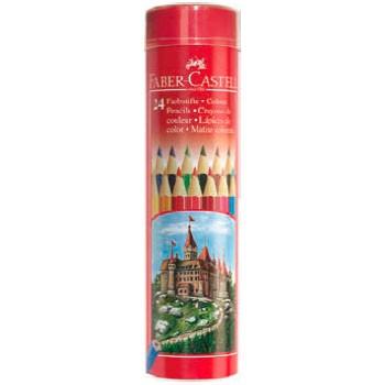 Карандаши цветные Faber-Castell Colour Pencils 115827 шестигран. 24цв. мет.туб.