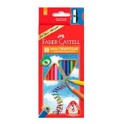 Карандаши цветные Faber-Castell Junior Grip 116510 10цв. точилка карт.кор.