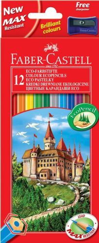 Карандаши цветные Faber-Castell Eco Замок 120112 12цв. точилка карт.кор.