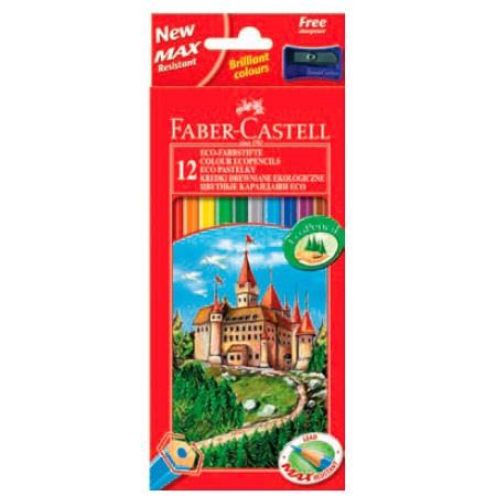Карандаши цветные Faber-Castell Eco Замок 120124 24цв. точилка карт.кор.