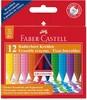 Мелки восковые Faber-Castell Grip 122520 трехгранные 12цв. стирающиеся карт.коробка