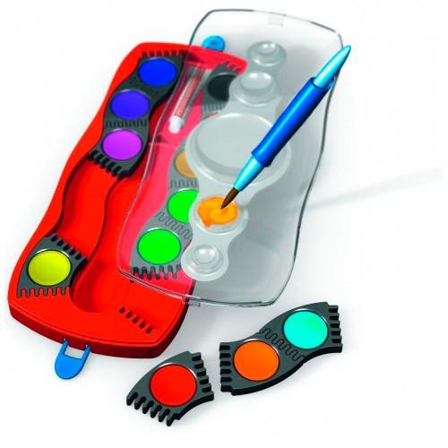 Краски акварельные Faber-Castell Connector 125023 12цв. кисточка пласт.поддон