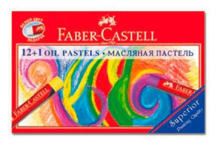 Пастель масляная Faber-Castell 125213 12+1цв. карт.коробка