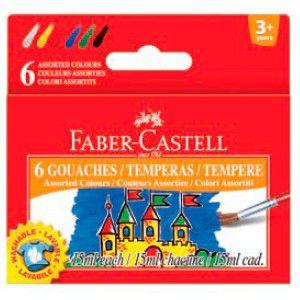 Гуашь Faber-Castell 161106 6цв. 15мл. картон.кор.
