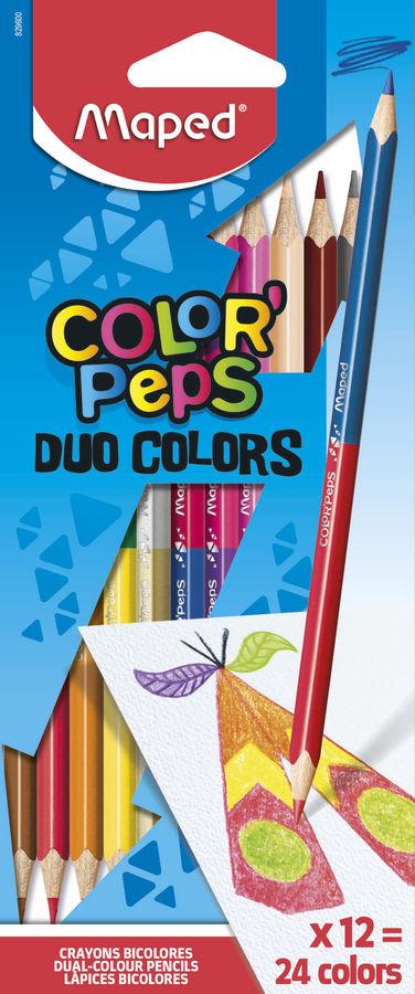 Карандаши цветные Maped Color`Peps 829600 трехгран. липа 24цв. 2-х сторонние коробка/европод.