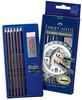 Набор карандашей чернографит. Faber-Castell Goldfaber 114000 (6 черн.кар 2H/HB/2B/4B/6B/8B/ласт./точ