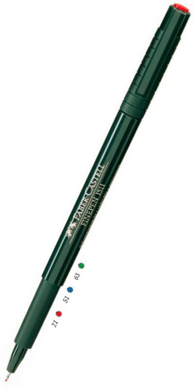 Ручка капиллярная Faber-Castell Finepen (151199) черные чернила