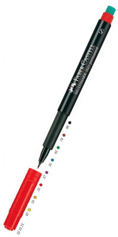 Ручка капиллярная для CD Faber-Castell Multimark (151351) 0.6мм голубые чернила