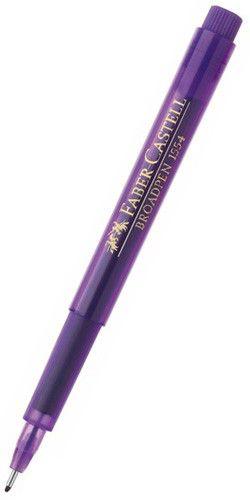 Ручка капиллярная Faber-Castell Broadpen (155436) 0.8мм фиолетовые чернила