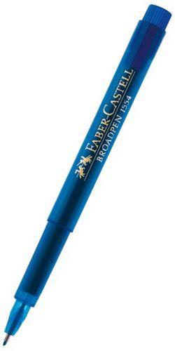 Ручка капиллярная Faber-Castell Broadpen (155451) 0.8мм синие чернила