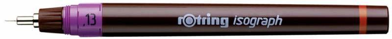 Изограф Rotring 1903395 0.13мм корпус бордовый пластик съемный пишущий узел/заправка тушь