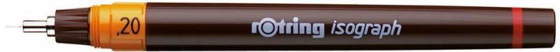 Изограф Rotring 1903397 0.2мм корпус бордовый пластик съемный пишущий узел/заправка тушь