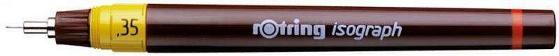 Изограф Rotring 1903400 0.35мм корпус бордовый пластик съемный пишущий узел/заправка тушь