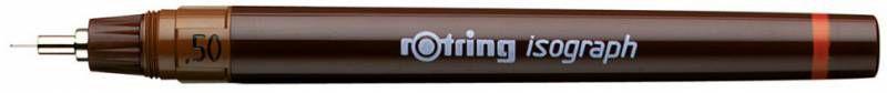 Изограф Rotring 1903492 0.5мм корпус бордовый пластик съемный пишущий узел/заправка тушь