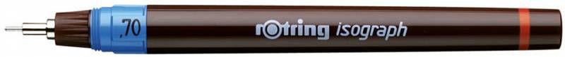 Изограф Rotring 1903494 0.7мм корпус бордовый пластик съемный пишущий узел/заправка тушь
