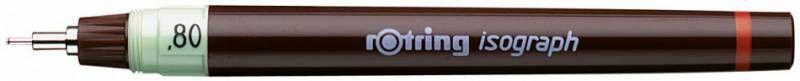 Изограф Rotring 1903495 0.8мм корпус бордовый пластик съемный пишущий узел/заправка тушь