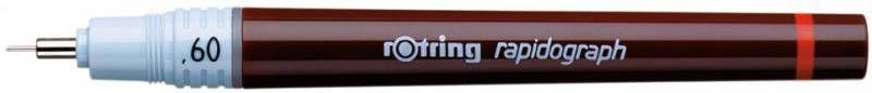 Рапидограф Rotring 1903472 0.6мм съемный пишущий узел/сменный картридж