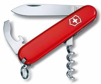 Складной нож VICTORINOX Waiter, 9 функций,  84мм, красный