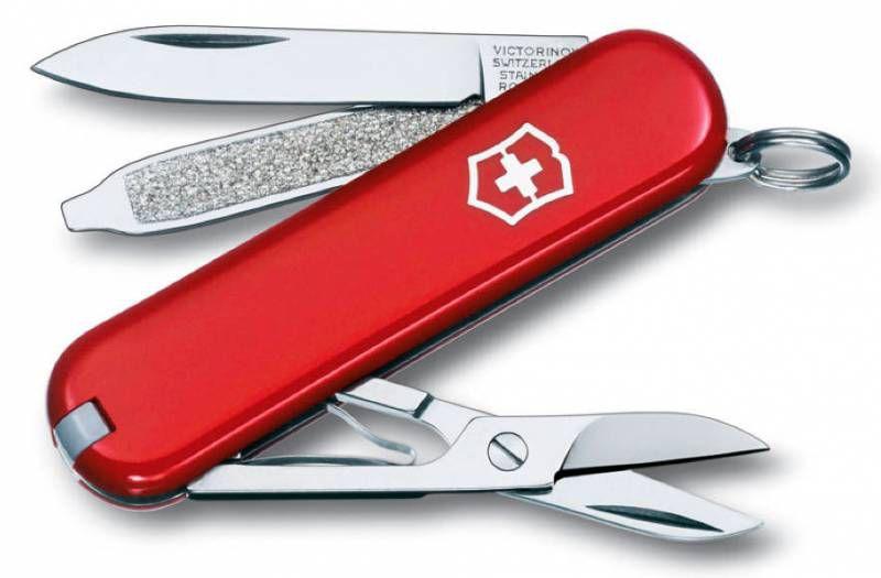Складной нож VICTORINOX Classic, 7 функций,  58мм, красный  [0.6223-012]
