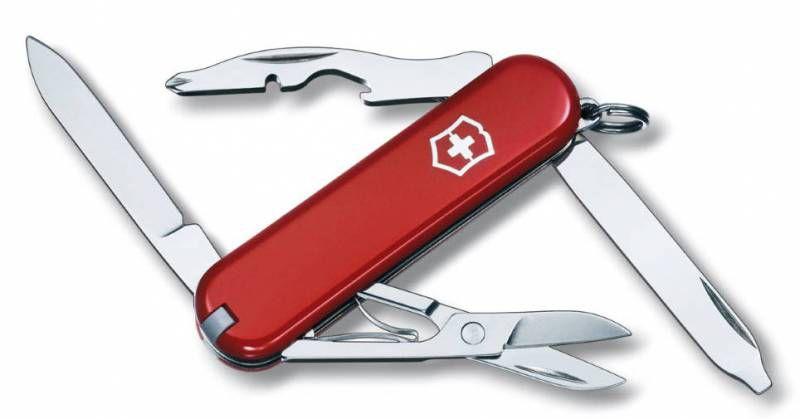 Нож перочинный Victorinox Rambler (0.6363) 58мм 10функций красный