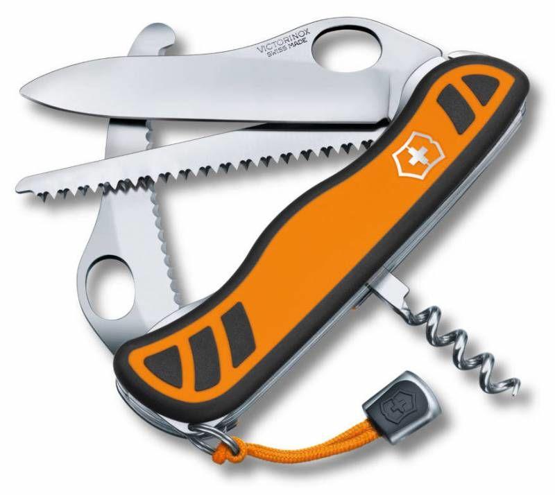 Складной нож VICTORINOX Hunter XT One Hand, 6 функций,  111мм, оранжевый  / черный [0.8341.mc9]
