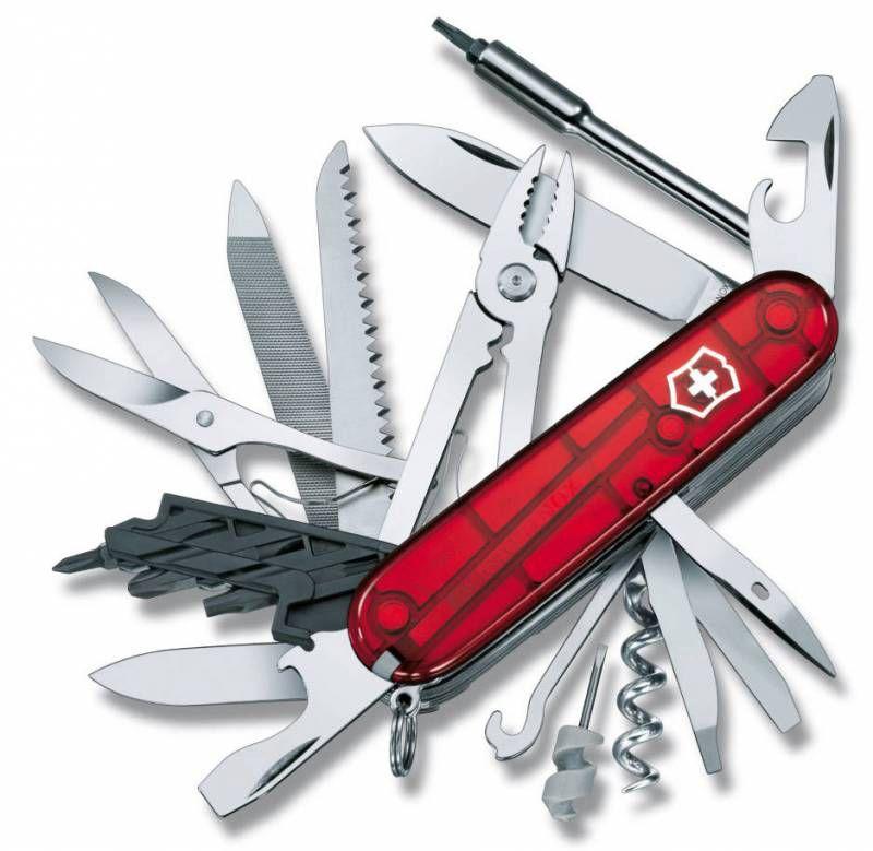 Складной нож VICTORINOX CyberTool L, 39 функций,  91мм, красный полупрозрачный  [1.7775.t]