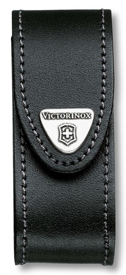 Чехол из нат.кожи Victorinox Leather Belt Pouch (4.0520.31) черный с застежкой на липучке/повор.креп