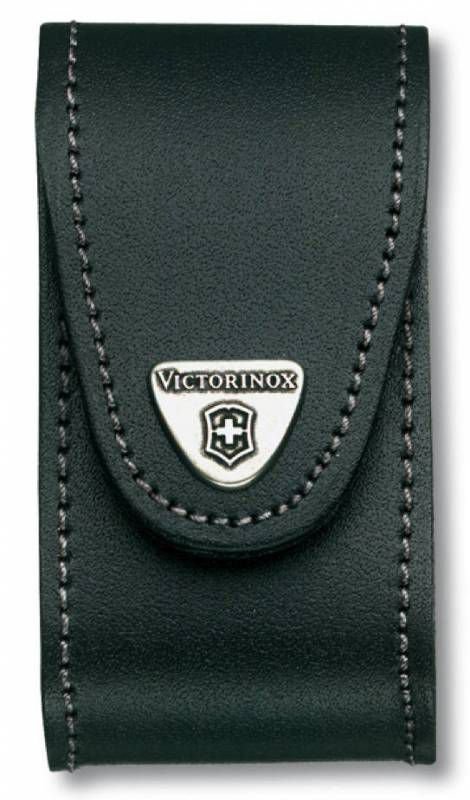 Чехол из нат.кожи Victorinox Leather Belt Pouch (4.0521.3B1) черный с застежкой на липучке блистер