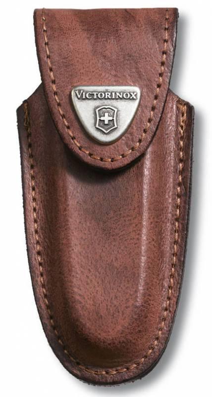 Чехол из нат.кожи Victorinox Leather Belt Pouch (4.0533) коричневый с застежкой на липучке блистер
