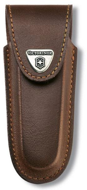 Чехол из нат.кожи Victorinox Leather Belt Pouch (4.0538) коричневый с застежкой на липучке без упако