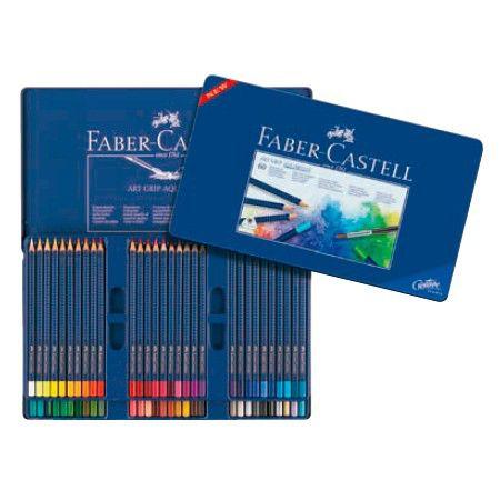 Карандаши цветные акварельные Faber-Castell Art Grip Aquarelle 114260 60цв. мет.кор.