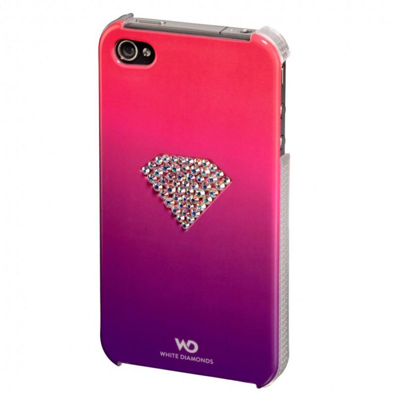 Чехол (клип-кейс) HAMA White Diamonds Rainbow H-108517, для Apple iPhone 4/4S, розовый [00108517]